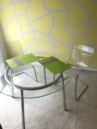 Dining set glass table with two chairs  Arlington, 22206