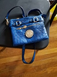 Used blue leather michael kors cross body bag for sale in Monroe ... caef1e413ac16