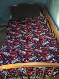 Bed Frame twin very sturdy only 3 months old