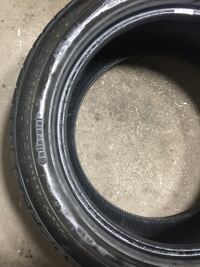 P255/50r19 set of used run flat continental winter tires Vaughan