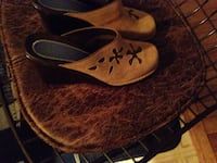 pair of brown suede slip-on shoes Moncton, E1C 7M4