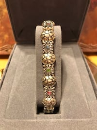 Pretty! Silver Bracelet with Crystal Color Stones Gainesville, 20155