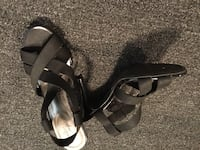 Pair of black open-toe sandals, brand new. Size 7 Port Coquitlam, V3C