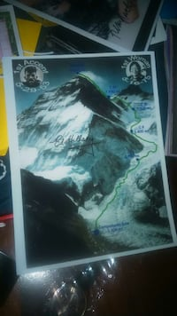 Flott glossy bilde av Mount Everest