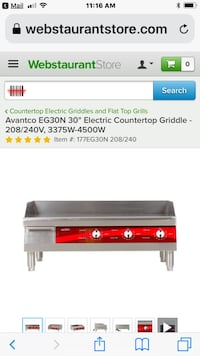 electric griddle  Fresno, 93720