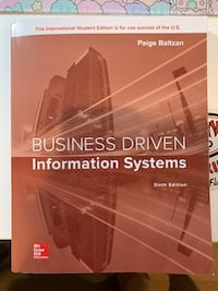 Textbook MIS303 Business Driven Information Systems Centreville, 20120
