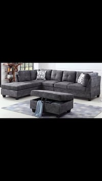 LEXUS FABRIC SECTIONAL WITH STORAGE OTTOMAN SALE!!!!