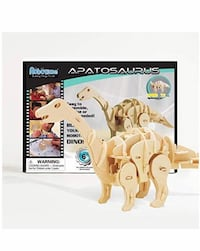 New Mini Apatosaurus 3D Wooden Walking Dinosaur Puzzle Sound Control Toy Gift for Kids Nashua, 03063