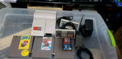 top loader nintendo with games