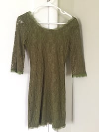 Women's olive green 3/4 sleeve lace dress Sacramento, 95816