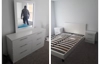 New white Or black 5 pc queen bedroom set. Delivery North Miami, 33161