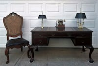 Large Desk and Chair Hooker