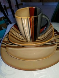 Dish Set. 8 of each piece.32 pieces in all. Paid 125.00 Calgary