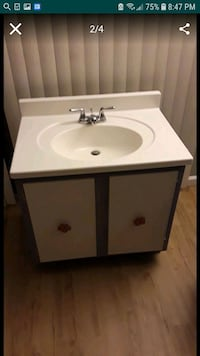 white ceramic sink with faucet Gaithersburg, 20877
