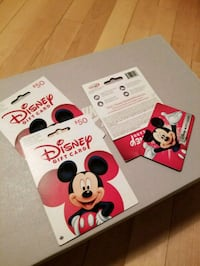 Disney gift cards (50$x3) - With Proof