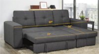 New- Grey Sectional with Sofabed and Storage Mississauga