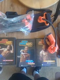Work out DVD set and ab belt Hamilton