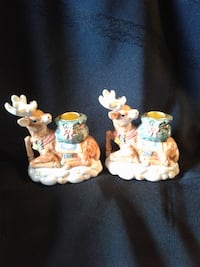 NOW $10*****REINDEER Candle Holders * IF AD'S UP, IT'S STILL AVAILABLE Hamilton