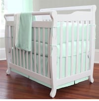 Baby's white wooden crib only pic I could find of what my crib kind of looks like. Normal wear on the crib, some paint chipping, nothing you can't paint. Chandler, 85226