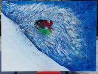40x30 inches skiing acrylic painting  Toronto, M2L 1T1