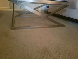 Glass coffee table and glass dining table