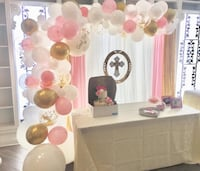 Baptism backdrop rental Vaughan