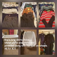 Boys winter clothes along with white hamper Woodbridge, 22191