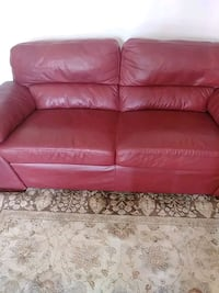 red leather 3-seat sofa London, N6H 4Y7