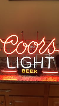 white and red Coors Light neon signage Bedford, 03110