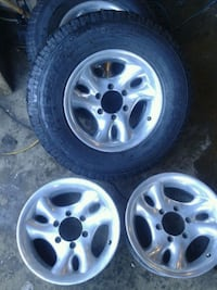 16 inch 6 bolt American  racing  wheels  for chevy
