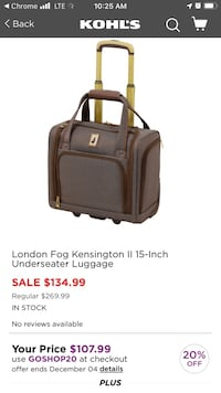 London Fog rolling business case Woodbridge, 22191