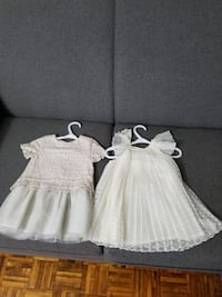 two white and gray sleeveless dresses 486 km