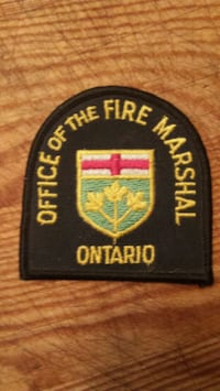 Fire Marshal patch  Toronto, M6H 1E7