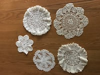 5 vintage hand crocheted doilies Fiskdale, 01518