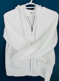 White UNIQLO Women's zip up  Burnaby, V3J 1N4