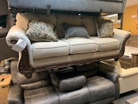 BIGSALE sofa with accent pillows wood trim By Ashley furniture BRAND NEW  Jacksonville, 32246