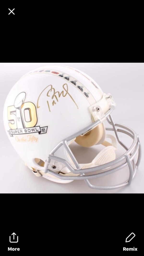 separation shoes 8a609 50a03 TOM BRADY SIGNED FULL SIZE HELMET TRISTAR AND STEINER COA LIMITED EDITION 2  of 50