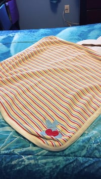 Yellow red and blue stripe blanket Toronto, M6M 5K9
