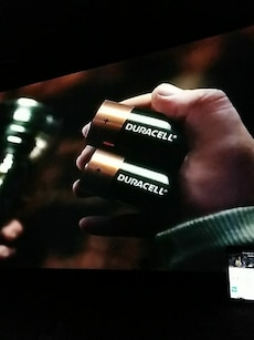 two Duracell battery