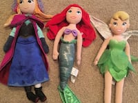Disney princess stuffed animals  Edmonton, T6R 0J1