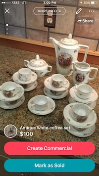 antique white coffee set Boise, 83712