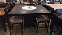 Wooden Counter Height Dining Table With Chairs  Phoenix, 85008