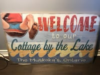 Muskoka's cottage by the Lake pressed wood sign null, K0A 3H0