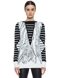 McQ by Alexander McQueen Tiger Jacquard Wool and Cashmere Sweater  6813 km