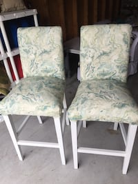 Set of tall bar stools.