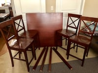 Brown wooden dining table set Rockville, 20851