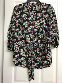 Black and pink floral long sleeve shirt  Frederick, 21702
