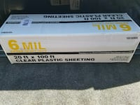 Brand New Plastic Sheeting Rolls, 20ft wide x 100ft long