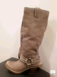 pair of brown leather knee-high boots Edmonton