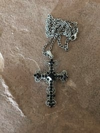 black and silver-colored cross pendant necklace Tucson, 85742
